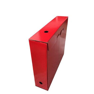 Arşiv Kutusu Kırmızı Ofset baskılı